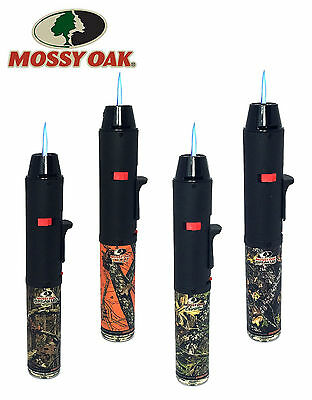 Mossy Oak Licensed Torch Gun Pen Torch Lighter Butane Refillable with Stand