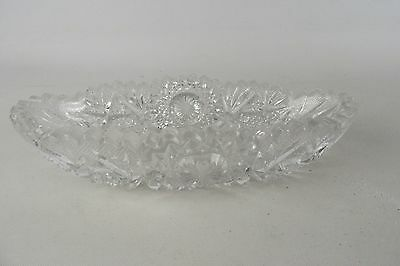 Vintage Cut Glass Ornate Butter Dish