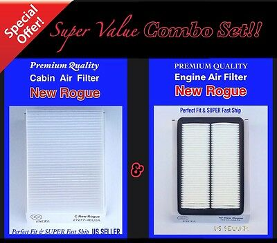 COMBO SET For NEWEST ROGUE ENGINE&CABIN FILTER 2014 2015 2016 Fast ship!!