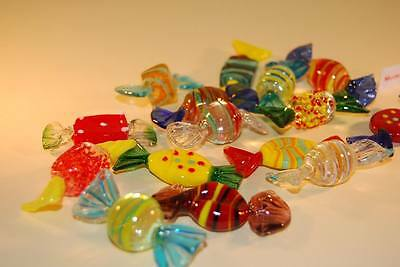 15 SWEETS big 2.2 inch Murano glass DIRECT from ITALY by MORBIDEIDEE Venice