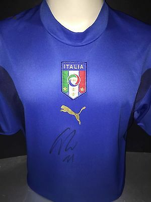 Signed Retro Italy Shirt By Ciro Immobile