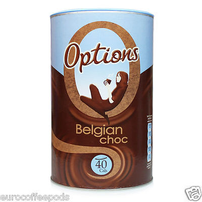 Options Belgian Choc, Luxury Hot Chocolate Drink 825g