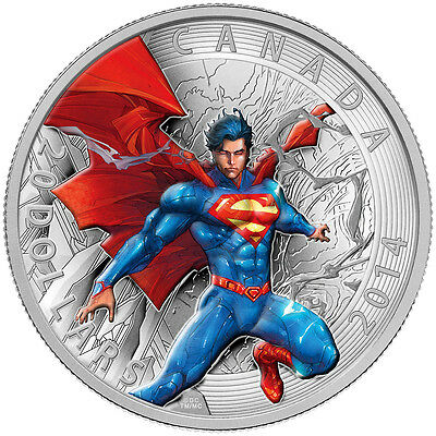 2014 $20 Fine Silver Coin - Canada Iconic Superman Comic Book Covers - Annual #1