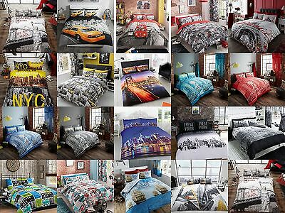 3D NYC New York London City Night Duvet/ Quilt Cover Sets Bedding Sets All Size