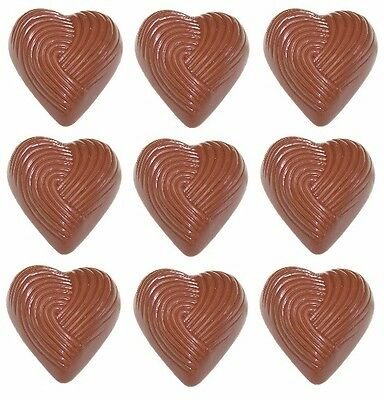 30 x Tahitian Lime & Cream Gourmet Milk Couverture Chocolate Heart - Weddings