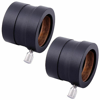 "2X Black Metal 1.25"" to 0.965"" Telescope Eyepiece Mount Adapter 31.7mm to 24.5mm"