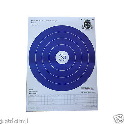 10pcs Target Paper Archery Five Rings 40x40cm Hunting Practice for Recurve Bow