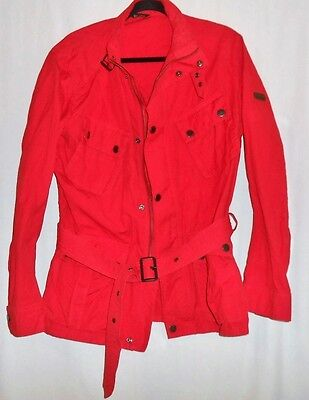 Men's Barbour International Sz Large Red Utility Motorcycle Streetwear Jacket