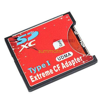 Extreme SD to CF Adapter SDHC/SDXC To CompactFlash CF Type I Memory Card