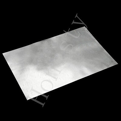 1/4/8x Zinc Zn Sheet Plate 150×100×0.3/150×100×0.2/500×100×0.2mm for Science lab