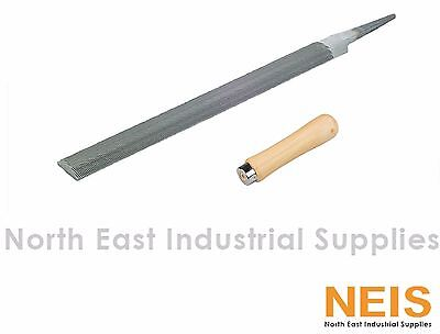 "Nicholson 1/2 Round File High Quality Industrial Hand File With Handle 4"" to 14"""