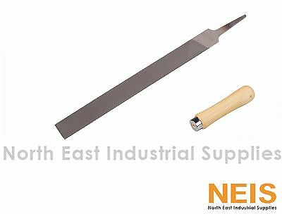 "Nicholson Hand File High Quality Industrial Standard W/ Handle 6"" 8"" 12"" 14"""