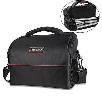 Waterproof SLR DSLR Camera Shoulder Carry Case Bag BLACK For Sony Nikon
