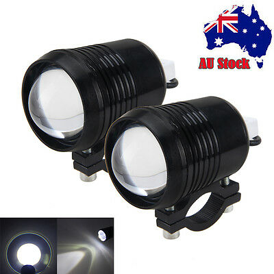 2X Motorcycle Bike CREE 30W U2 LED Driving Fog Head Spot Light Lamp Headlight