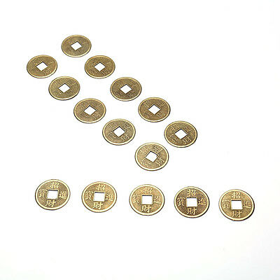 20PCS Brass 24mm Chinese Ancient Feng Shui Lucky Coin Good Fortune Gift
