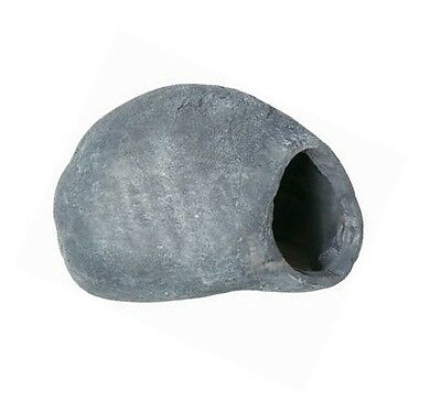 Ceramic Fish Cave Aquarium Ornament Grey Rock Pebble Den Fish Tank Decoration