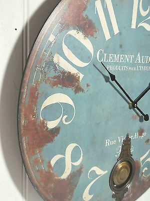 Extra Large French Shabby Chic Wall Clock 60Cm Antique Vintage Style New & Boxed