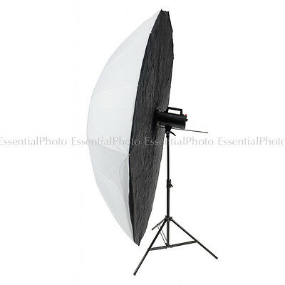 150cm Parabolic Shoot Though Umbrella with Black Opaque Backing
