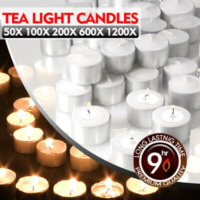 Tea Light Candles Bulk 9 Hour Tea Lights Tealight Tealights Unscented Candle