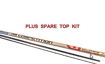 Competition Carbon 11m Pole + spare top kit, Take Apart match fishing  (GAP393)