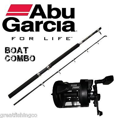 Abu Garcia Boat Rod Combo With  tssd 300l multiplier reel