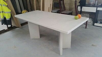 HOT PRICE!!! RHF Stone Quartz White Pearl Dining Outdoor Rectangle Table