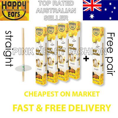 Happy Ear Candles Sale 4 + 1 Pairs Safe Ancient Natural Therapy Clean Wax Detox