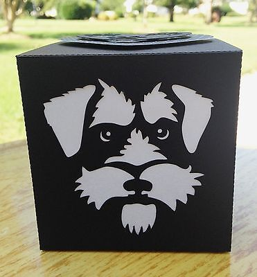 Schnauzer Gift LED Candle Luminary Glowbox