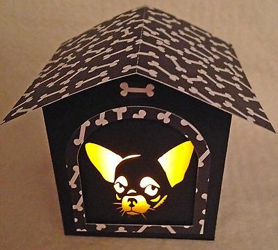 Chihuahua Gift Doghouse LED Candle Luminary