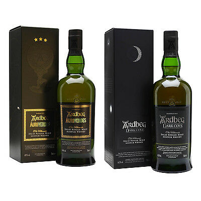 Ardbeg Auriverdes & Ardbeg Dark Cove Scotch Whisky