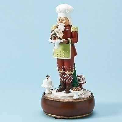 """Roman Musical LED """"Nutcracker with Cake"""" Figure, 10 inch (30033)"""