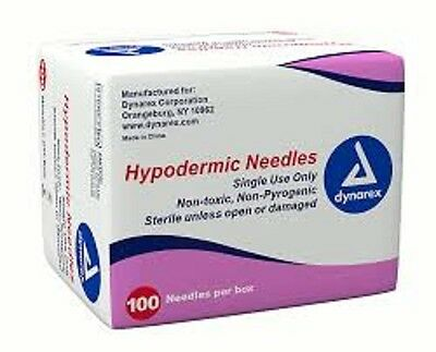 "100/Box Hypodermic Needles 23G x 1 1/2"", # 6971, Dynarex, Exp 11/2020"