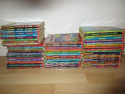 Lot Of 49  R.l.stine Goosebumps Paperback 1992,93,94,95,96,97,99 Mixed Lot*