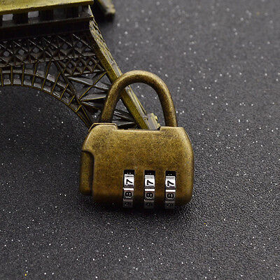 Vintage for Door Closet 3 Digits Password Padlock Chinese Old Style Lock Cabinet