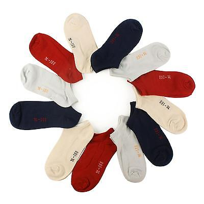 Unisex 12 Pairs Solid Thin Plain Ankle Low Cut Socks Set Kids Assorted Ages 4-6
