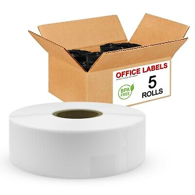 5 Rolls of 30252 Compatible Address Labels for DYMO 1-1/8'' x 3-1/2''