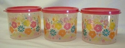 Tupperware Floral Canisters