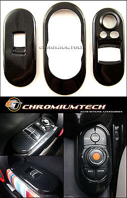 BLACK Centre+ Window Control Panel Cover for MK3 MINI Cooper/S/ONE F56 2DR Hatch