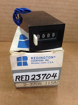 Redington 2-3704 23704  Electromechanical Totalizer Counter 115AC NEW IN BOX