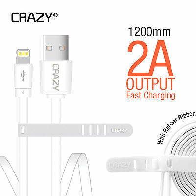 2 x Genuine Apple Lightning Data USB Cable Charger for iPhone 5S C 6 7 PLUS iPad
