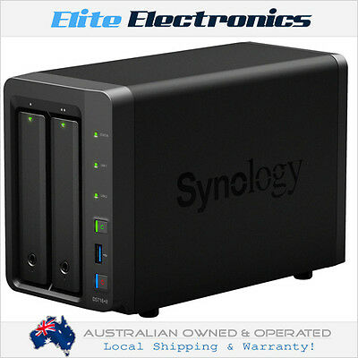 "Synology Ds716+Ii Diskstation 2-Bay Nas Server Dual Core 1.6Ghz 3.5"" Diskless"