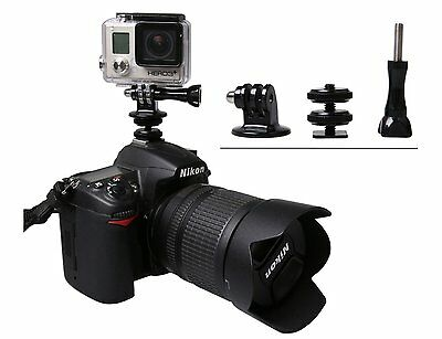 Hot Shoe Flash Mount Adapter Aluminum Tripod Screw to SLR Camera for GoPro Hero