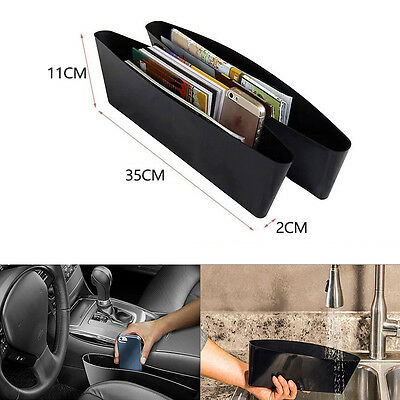 2× Catch Catcher Box Caddy Car Seat Gap Slit Pocket Storage Organizer Holder Box