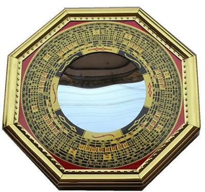 DZ1203 Feng Shui Chinese Era House Geomantic I-Ching Bagua Concave Mirror Solar^