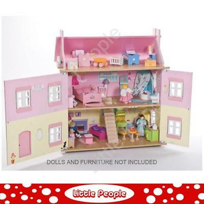 LE TOY VAN Pink Wooden Dollhouse Sophie's House