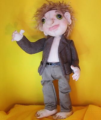 Ed Sherran, Character doll, Collectable, handmade, gift, 38cm, One of a kind
