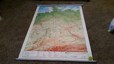 Vintage Westermann Deutschland / German Double Sided Pulled Down Map
