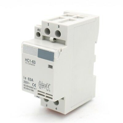 AC Contactor HC1-63 110V 63A 2 Pole Universal Circuit Control DIN Rail Mount