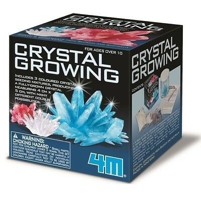 Crystal Growing Kit - Multi Coloured | 4M colour crystals grow science chemistry