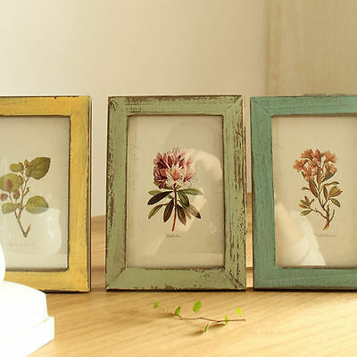 Warm Family Vintage Wooden Photo Frame Home Decoration Pictures Frames Gift